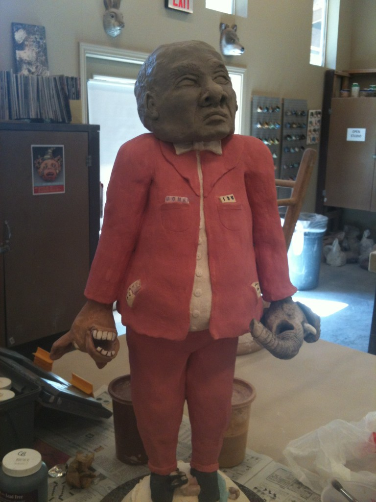 "Work in Progress:  ""The Senator"" Before it's first firing in the kiln"