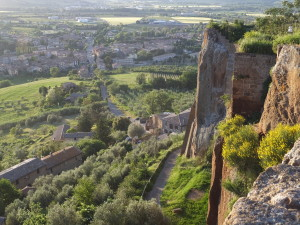 The Walls around Orvieto, Umbria Hill Town